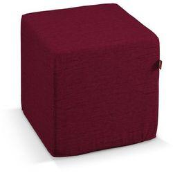 pokrowiec na pufę kostke, bordowy szenil, kostka 40 × 40 × 40 cm, madrid marki Dekoria
