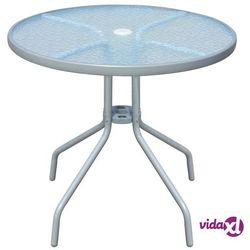 Vidaxl stół ogrodowy, 80 x 71 cm, stalowy, okrągły, szary