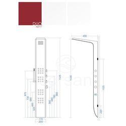 duo panel prysznicowy z termostatem aluminiowy a8777 marki Corsan