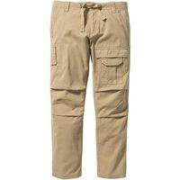 Spodnie bojówki regular fit straight  beżowy marki Bonprix