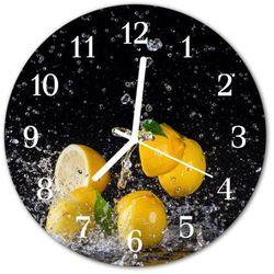 Zegar ścienny okrągły Cytryny