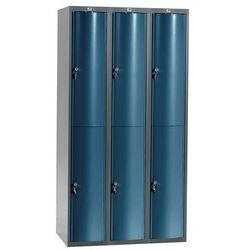 Ekskluzywne szafy osobiste 3x2 schowki w pionie Kolor drzwi: Niebieski me, kolor niebieski