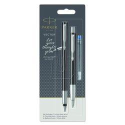 Zestaw Parker Vector pióro+długopis blister czarny 2055854, 39759
