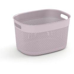 KIS Kosz na czyste pranie Filo L, 18 l, różowy