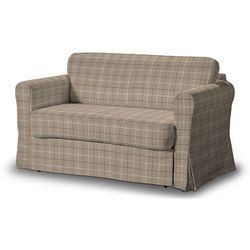 pokrowiec na sofę hagalund, szaro- beżowa krata, sofa hagalund, edinburgh marki Dekoria