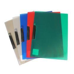 Skoroszyt z klipem Biurfol A4 PK-11-03 transparentny niebieski z kategorii Koszulki, teczki, koperty
