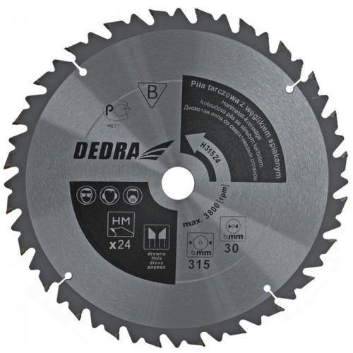 Tarcza do cięcia DEDRA HL50036 500 x 30 mm do drewna z ogranicznikiem posuwu + DARMOWA DOSTAWA! z kategorii tarcze do cięcia
