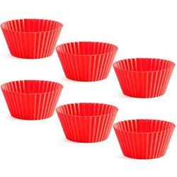 Lekue Foremki do muffinów classic  czerwone 6 sztuk