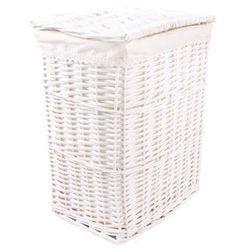 Tin tours Biały wiklinowy kosz na pranie 38x27x48h cm (5907633249972)