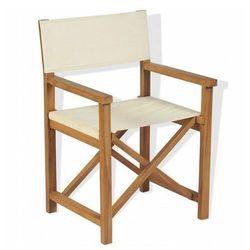 Składane tekowe krzesło reżyserskie bonet marki Edinos premium