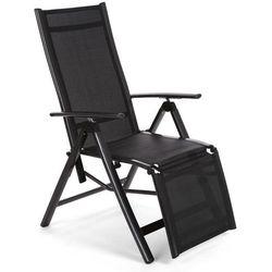 Home & garden Krzesło ogrodowe aluminiowe ibiza relax black / black (5902425326930)