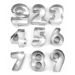 Duże foremki cyfry wykrawacze metalowe cyferki 0-9 marki Chinatrade