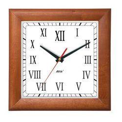 Zegar drewniany kwadrat #c marki Atrix
