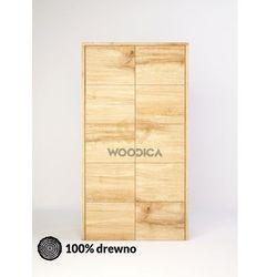 Woodica Szafa dębowa modern 01 109x202x62