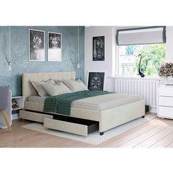 Zona meble Łóżko 180x200 z 4 szufladami - modena welur beżowe