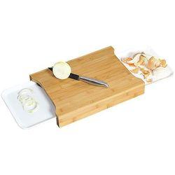 Kesper Deska do krojenia z drewna bambusowego z tackami na obierki, deska do krojenia, bambusowa deska do krojenia, akcesoria kuchenne,