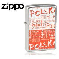 Zapalniczka benzynowa  polska, napisy, satin chrome marki Zippo
