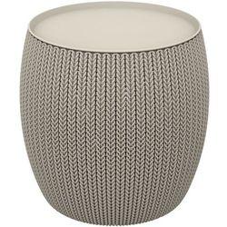 knit single table (cozies) stolik - piaskowy marki Keter