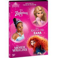 Disney Księżniczka. Pakiet (3 DVD) (Zaplątani, Merida Waleczna, Księżniczka i Żaba)