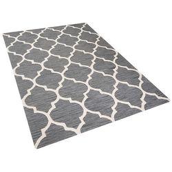 Dywan szary - 160x230 cm - handmade - bawełna - YALOVA (4260580924523)