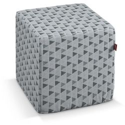 Dekoria  pufa kostka twarda, szaro-grafitowe trójkąty, 40x40x40 cm, wyprzedaż do -30%