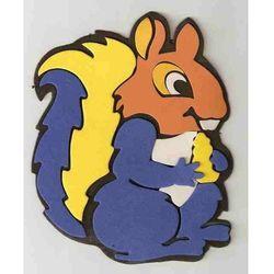 Obrazek - zabawka na ścianę w kształcie wiewiórki - mały