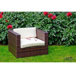 Fotel ogrodowy Ola z technorattanu ciemny brąz, BG-0049