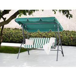 Huśtawka zielono-biała – meble ogrodowe – stal – ławka – CHAPLIN z kategorii Huśtawki ogrodowe