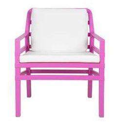 Fotel ogrodowy na taras apartamentu kompl. poduszek Aria Nardi fuksjowo-biały