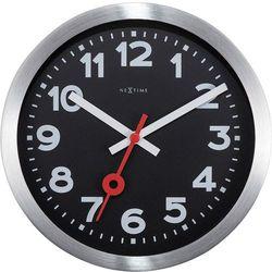 Zegar stojący / ścienny Station czarny cyferblat Nextime 19 cm (3998 ARZW)