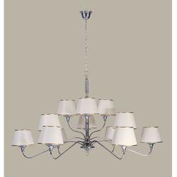 NESS chrom/mosiądz 12 zwis - żyrandol/lampa wisząca