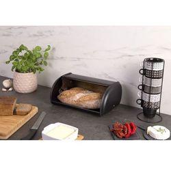 Chlebak czarny, modny pojemnik z nadrukiem na pieczywo lub suche ciasta
