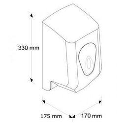 Pojemnik na ręczniki papierowe w roli top mini okienko niebieskie marki Merida