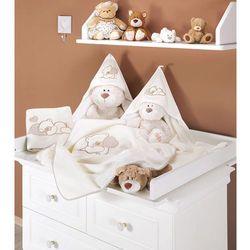 MAMO-TATO Kocyk Polarowy Śpiacy Miś w brązie