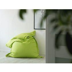Pufa do siedzenia z powłoczką wewnętrzną 140 x 180 cm zielona marki Beliani