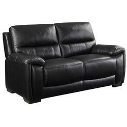 Sofa 2-osobowa ze skóry CARLOS - Czarny
