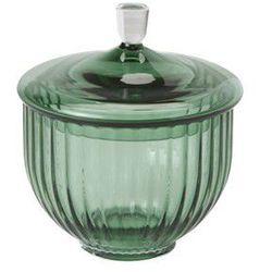 Bomboniera szklana, cukiernica 12 cm, zielona - Lyngby Porcelain