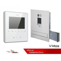 zestaw wideodomofonu skrzynka na listy z szyfratorem monitor 3,5 s1401d-skm+m1022w marki Vidos