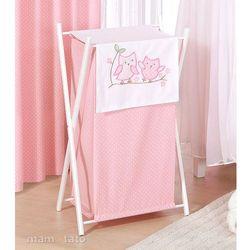 MAMO-TATO Kosz na bieliznę Sówki uszatki różowe z kategorii kosze na pranie