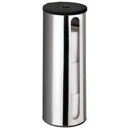 Wenko Pojemnik na zapasowe rolki papieru toaletowego detroit, stalowy, 3 rolki, montaż bez wiercenia, kolor srebrny, marka