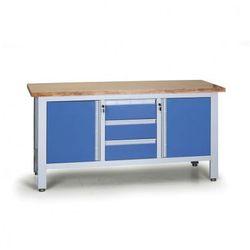 Stół warsztatowy EXPERT, 3 szuflady, 2 skrinky