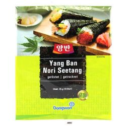 Dongwon Glony nori do sushi, 10 sztuk - korea (8801047221722)
