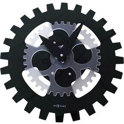 Zegar ścienny Moving Gears czarny by NeXtime, 3241 ZW
