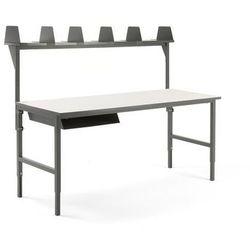 Aj produkty Stół roboczy cargo, 2000x750 mm, półka na listy, nadstawka