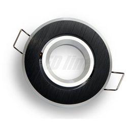 Oprawa halogenowa sufitowa okrągła ruchoma, aluminium, MR11 - czarna szczotkowana - produkt dostępny w ledi