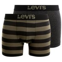 Levi's® RUGBY STRIPE BOXER BRIEF 2 PACK Panty olive green/black, bawełna