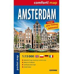 Amsterdam laminowany plan miasta 1:15 000- mapa kieszonkowa