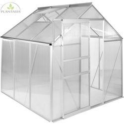 Plantasia ® Szklarnia ogrodowa aluminiowa 190x190x195cm 6mm