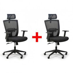 Fotel biurowy Fantom 1 + 1 GRATIS, czarny
