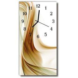 Zegar Szklany Pionowy Sztuka Abstrakcja beżowy, kolor beżowy